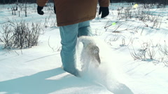 Plowing Through the Snow Stock Footage