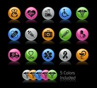 Medicine and Health Care Icons // Gel Color Series Piirros
