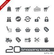 Shopping // Basics Series - stock illustration