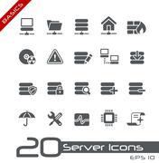 Network and Server // Basics Series Stock Illustration