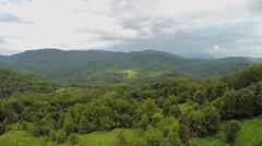 Panorama of mountain scape with tea plantation Stock Footage