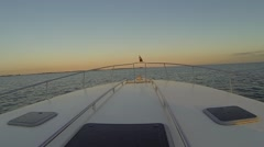 Sea Ray Bow Cruising Sunset Ride Lake Running POV Boating Boat - stock footage