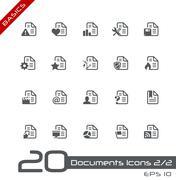 Documents Icons // Basics Series - stock illustration