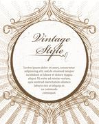 Rich decorated vintage style abstract background. Piirros