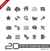 Hosting Icons // Basics Series - stock illustration