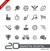 Sports Icons // Basics Series - stock illustration