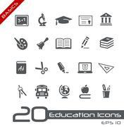 Education Icons // Basics Series - stock illustration