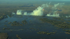 Aerial of Victoria Falls Stock Footage