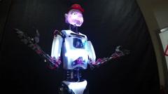 Talking robot Stock Footage