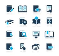Book Icons // Azure Series - stock illustration
