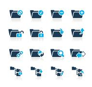Folder Icons - 1 // Azure Series - stock illustration