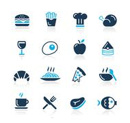 Food Icons - 1 // Azure Series - stock illustration