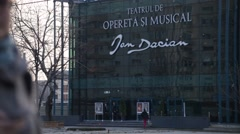 New Operetta Theatre Bucharest Romania - stock footage