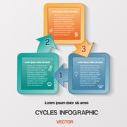 Diagram cyclic business process or workflow for success project Stock Illustration