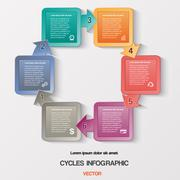 Infographic cyclic business process or workflow for success project Stock Illustration