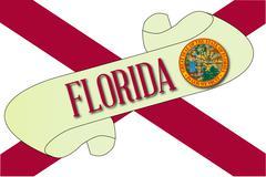 Florida Scroll - stock illustration