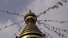 Swayambhunath Stupa or Monkey temple, Kathmandu, Nepal, Asia Stock Footage