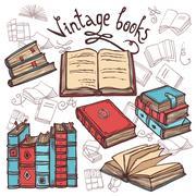 Sketch Books Set - stock illustration