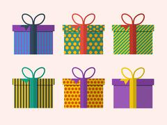 Vector set of presents Stock Illustration