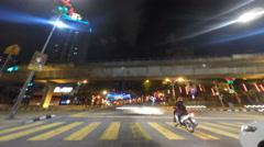 Kuala Lumpur in Night Time Tunner Stock Footage