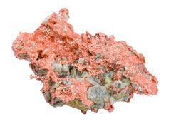 Stock Photo of Native Copper Over White Background