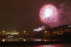 Prague firework Stock Photos