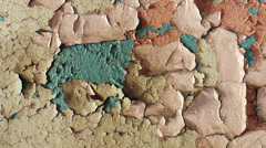 Shabby paint on the wall. Stock Footage