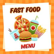 Fast Food Menu Stock Illustration
