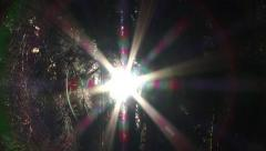 Solar Star Flare in Woods Zoom Out - stock footage