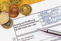 personal bankruptcy germany - stock photo