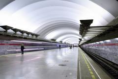 Underground Metro station, subway Saint Petersburg Kuvituskuvat