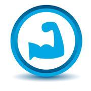 Blue strength icon Stock Illustration