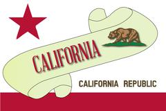 California Scroll Stock Illustration