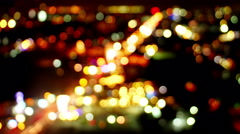 Blurred lights of traffic loopable timelapse 4k (4096x2304) Stock Footage