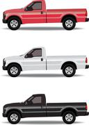 Pick-up trucks - stock illustration
