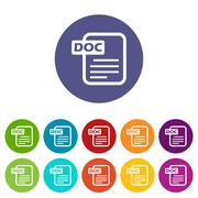 Doc flat icon - stock illustration