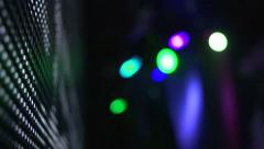 Dj Disco Light Bokeh In Night Club - stock footage
