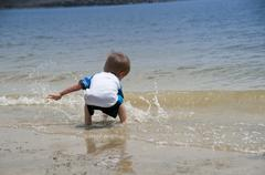 summer time fun-toddler - stock photo