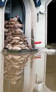 floods in passau, germany - stock photo