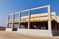 commercial construction and production facility - stock photo