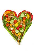 A heart made of vegetables. healthy diet Stock Photos