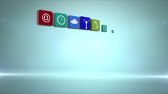 Wall of app icon tiles Stock Footage