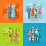 Family Icon Flat Stock Illustration