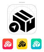 Location shipment box icon Stock Illustration