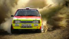 Slow Motion, World Rally Car, Championship, WRC, fast and furious Stock Footage