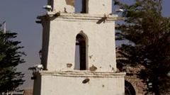 Old Church at the Atacama desert Stock Footage