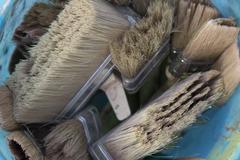 brushes and bristle - stock photo