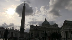 Vatican City - St. Peters Square - stock footage