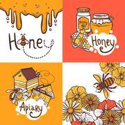 Honey Design Concept Stock Illustration