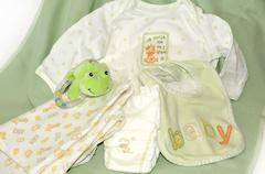 Items for new baby arrival - stock photo